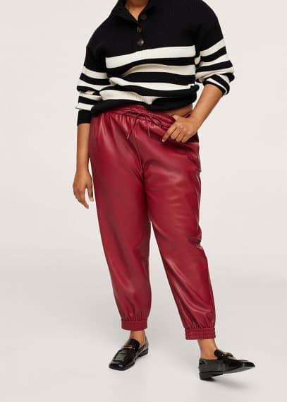 Женские брюки Mango (Манго) Брюки из искусственной кожи - Hudson