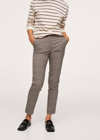 Женские брюки Mango (Манго) Укороченные брюки скинни - Warm