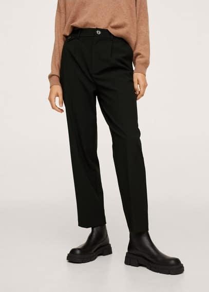 Женские брюки Mango (Манго) Прямые брюки с защипами - Alessia