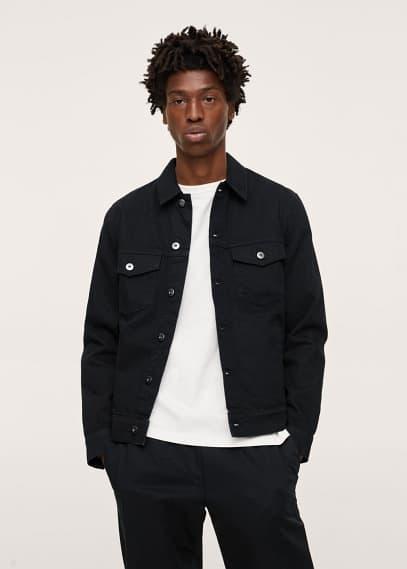 Куртка Mango (Манго) Куртка из денима черного цвета - Ryan