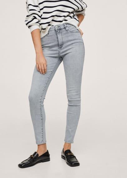 Женские джинсы Mango (Манго) Джинсы-скинни с завышенной талией  - Anne