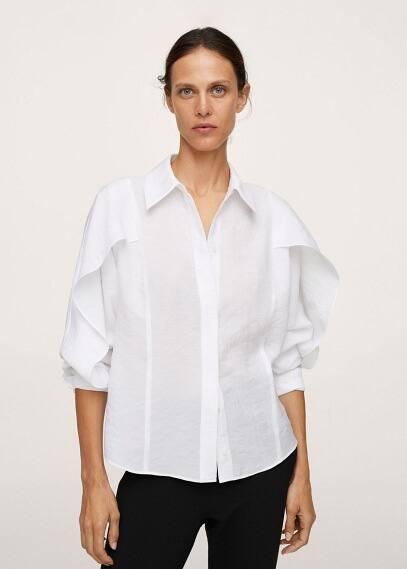 Женские рубашки с длинным рукавом Mango (Манго) 17063788