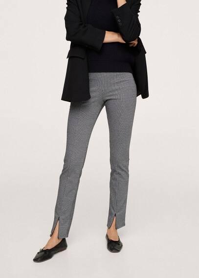 Женские брюки Mango (Манго) Легинсы с разрезами внизу - Alexei