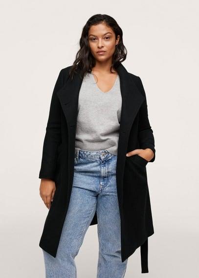 Женские пальто Mango (Манго) Двубортное пальто из шерсти - Rosi1