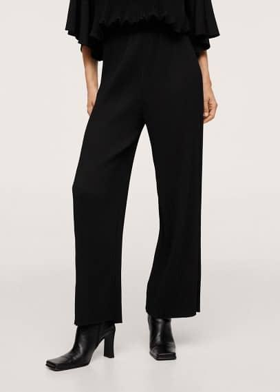 Женские брюки Mango (Манго) Брюки wideleg из хлопка - Plas-a