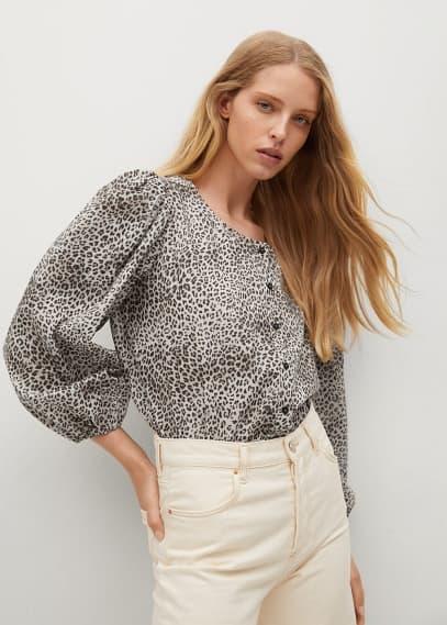 Блуза Mango (Манго) Блузка с леопардовым принтом - Chita