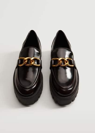 Женские ботинки Mango (Манго) Мокасины на тракторной подошве - Sir