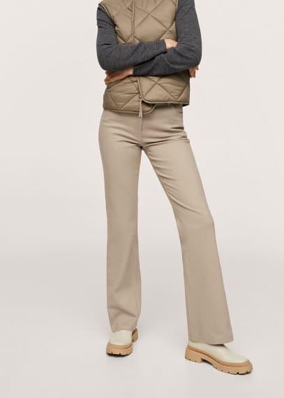 Женские широкие и расклешенные брюки Mango (Манго) 17074393