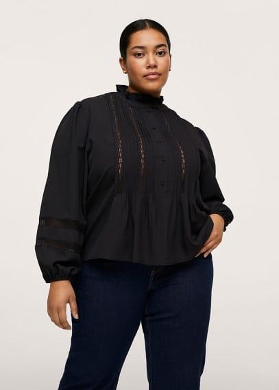 Рубашка Mango (Манго) Блузка с плиссировкой - Parisien