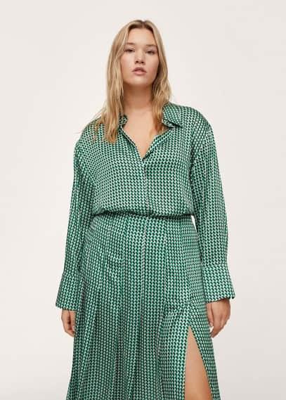 Рубашка Mango (Манго) Блузка с принтом ретро - Pierre