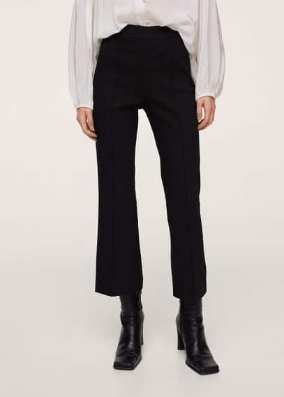 Женские брюки Mango (Манго) Укороченные брюки flare - Kick