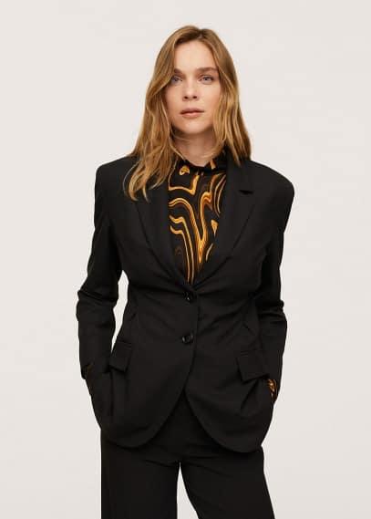 Жилет Mango (Манго) Пиджак с защипами - Katia