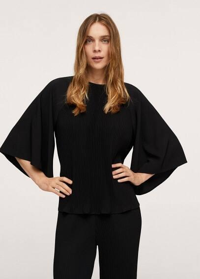 Блуза Mango (Манго) Блузка с расклешенными рукавами - Plas-a