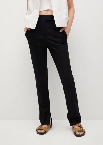 Женские брюки Mango (Манго) Брюки с разрезами внизу - Colca-i