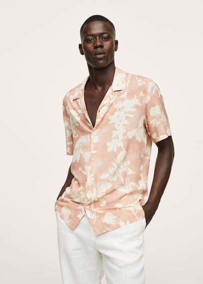 Рубашка Mango (Манго) Струящаяся рубашка с цветочным принтом  - Lioni