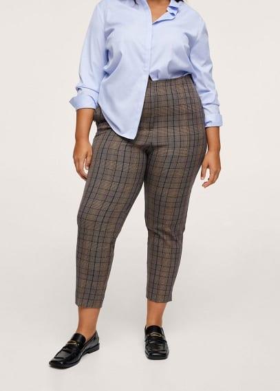 Женские брюки Mango (Манго) Укороченные брюки-дудочки - Xipy1