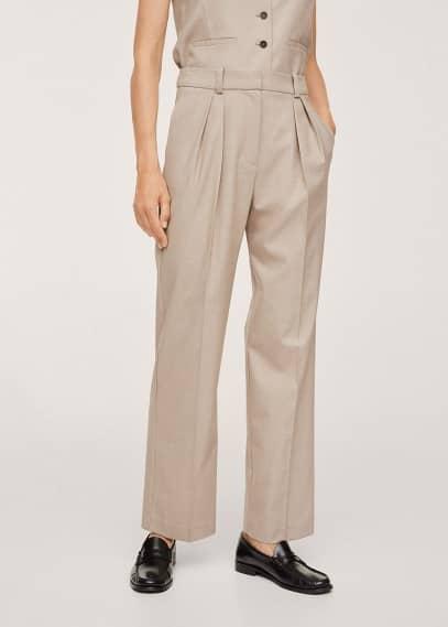 Женские классические брюки Mango (Манго) Костюмные брюки с защипами - Mindy