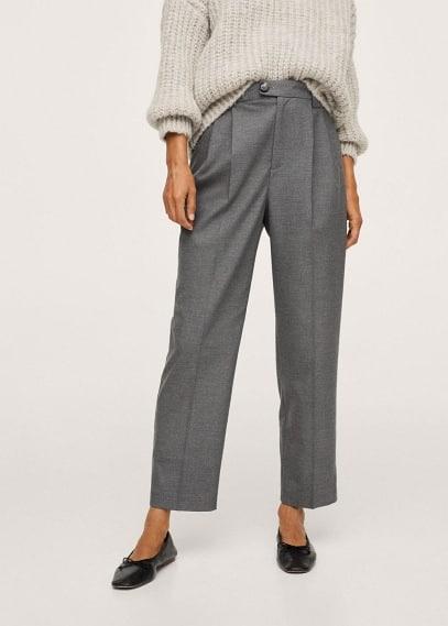 Женские классические брюки Mango (Манго) Прямые брюки с защипами - Celia