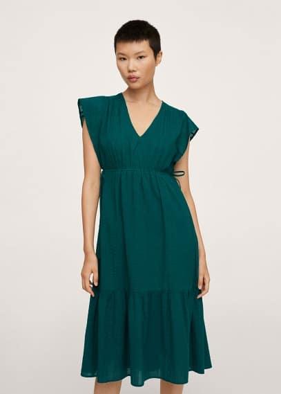 Платье Mango (Манго) Фактурное платье с воланами - Deer-h