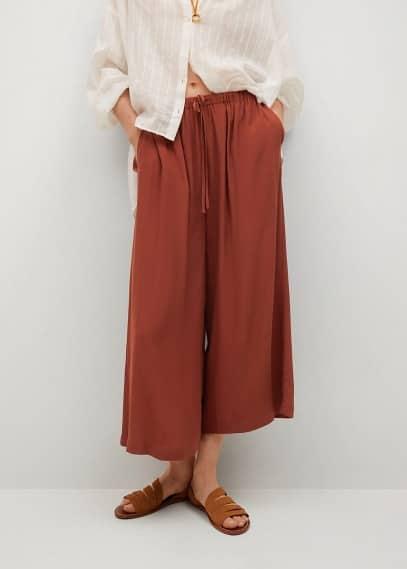 Женские брюки Mango (Манго) Струящиеся брюки-кюлоты - Life