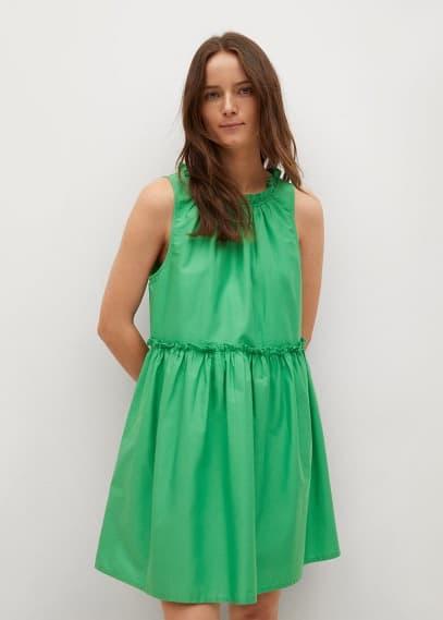 Платье Mango (Манго) Платье со сборками  - Mikonos