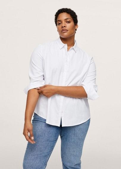 Рубашка Mango (Манго) Хлопковая рубашка из базовой коллекции - Oxford1