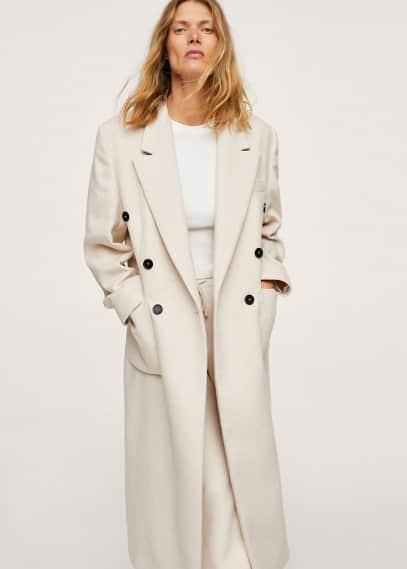 Женская верхняя одежда Mango (Манго) Двубортное пальто - Pemba-i