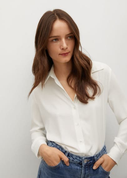 Женские рубашки с длинным рукавом Mango (Манго) Рубашка Mango
