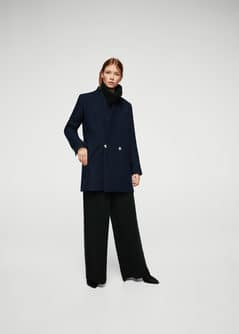 Military style wool coat - Woman | MANGO Albania