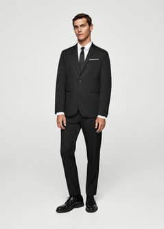 Slim-fit suit trousers - Men | MANGO Man USA