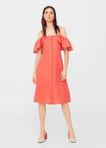 c89a7a5df7 Ruffled linen dress - Women