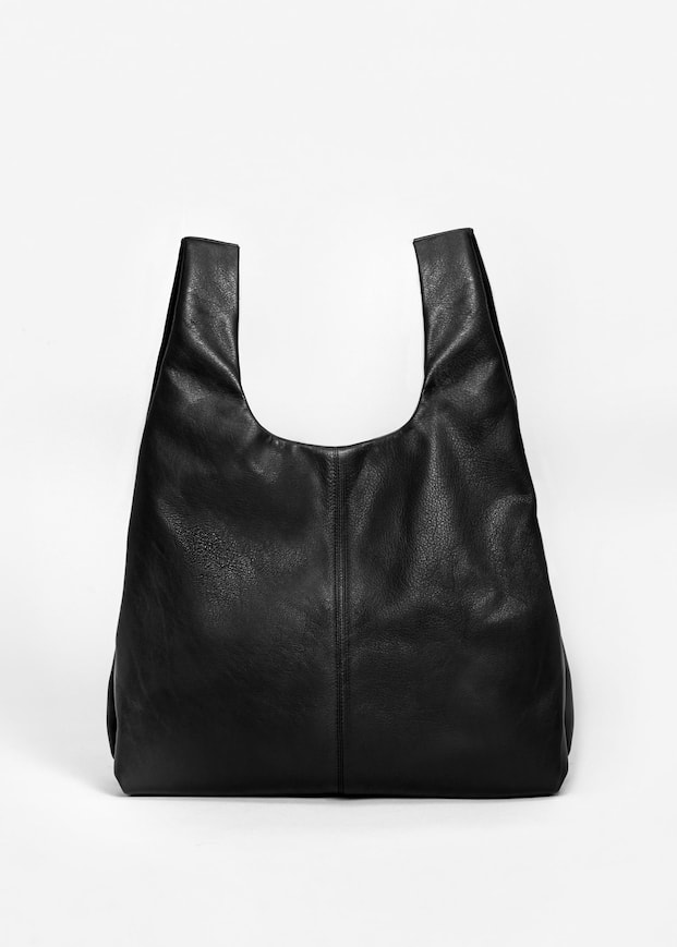Well-known Leather shopper bag - Women | MANGO USA QY26
