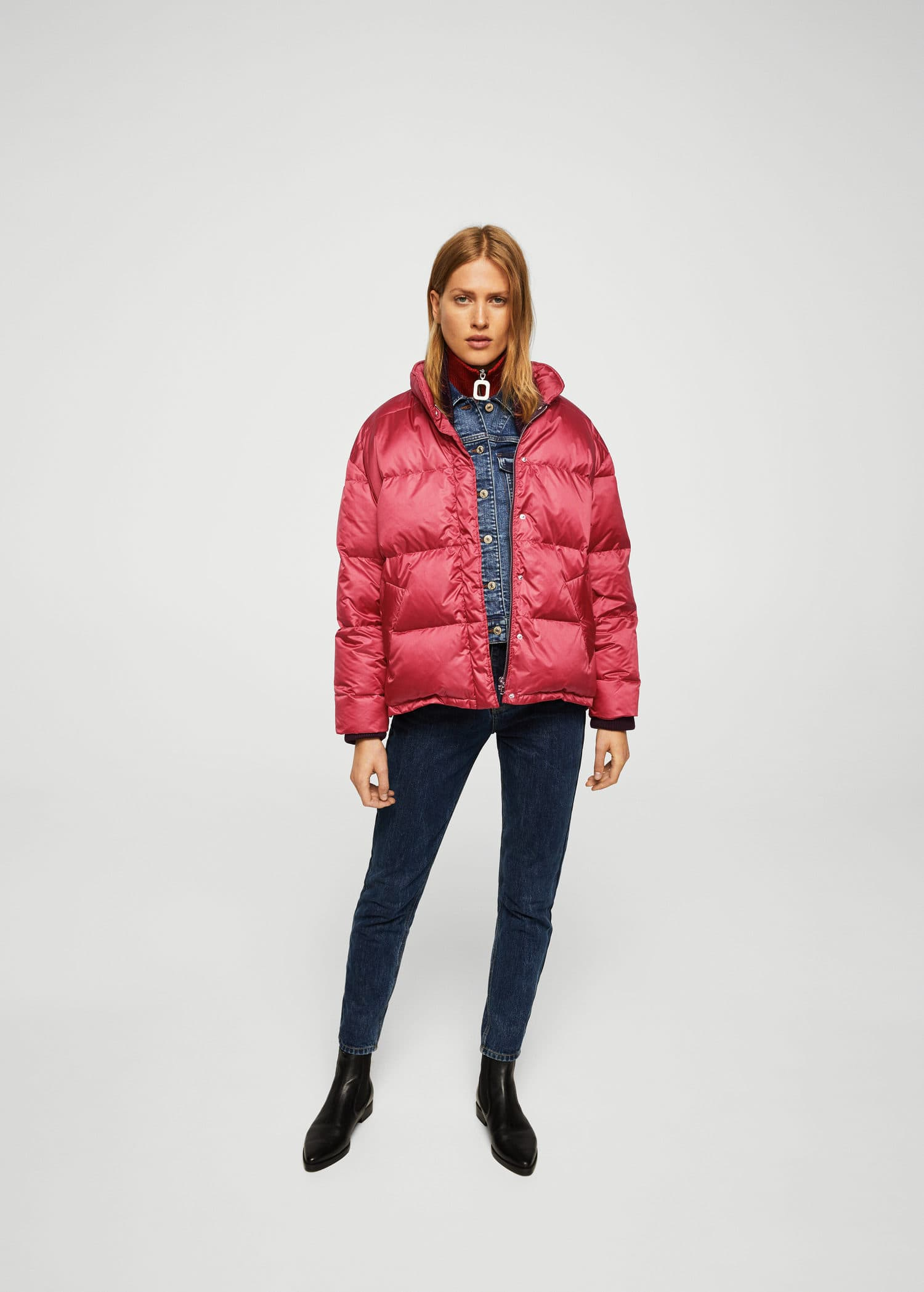 Oversized steppanorak Damen in 2019 | Mäntel frauen