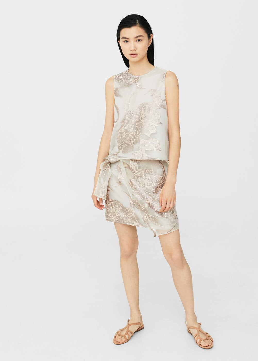 Metallic organza skirt | MNG