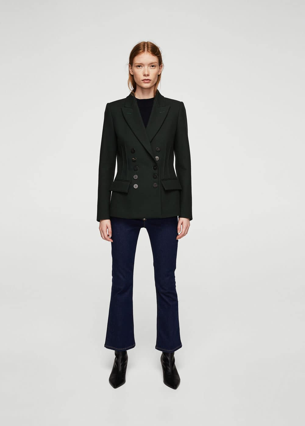 Double-breasted structured blazer | MANGO