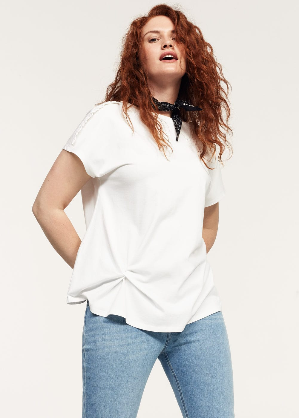 Ruched detail t-shirt | VIOLETA BY MNG