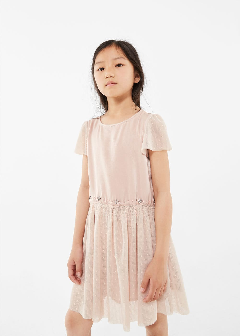 Bead tulle dress | MNG