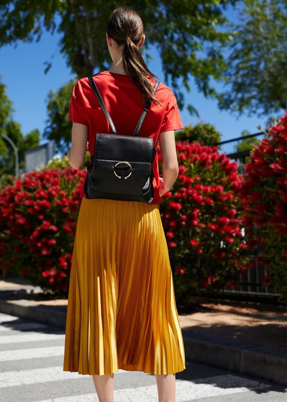 Pebbled ring backpack   MNG