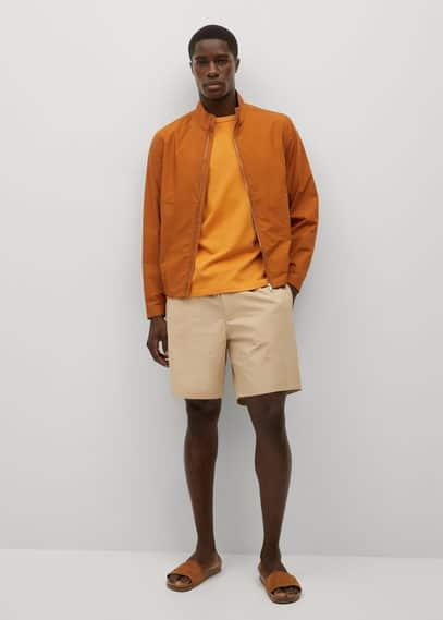 Tencel cotton jogger shorts dark navy
