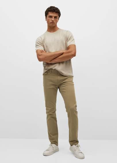 Slim-fit colored jeans dark navy