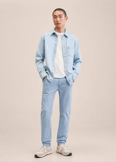 Slim fit light wash Jan jeans light blue