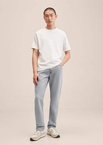 Straight-fit grey Bob jeans denim grey
