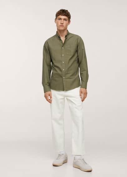 Oxford cotton shirt sky blue