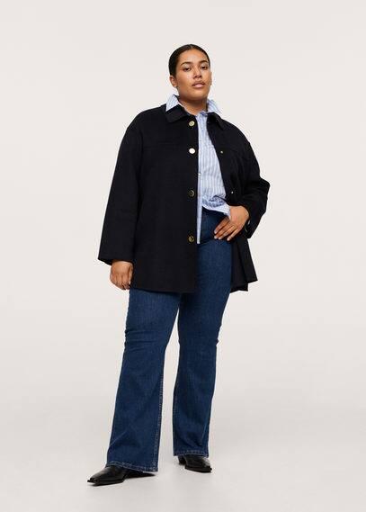 Пальто с пуговицами, шерсть - School