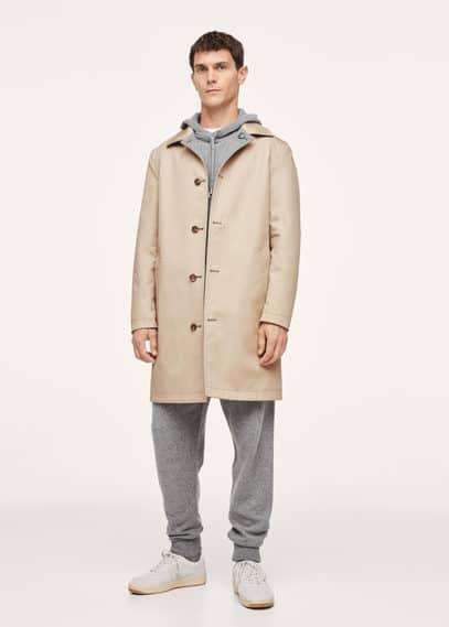 Cashmere wool knit hoodie medium heather grey