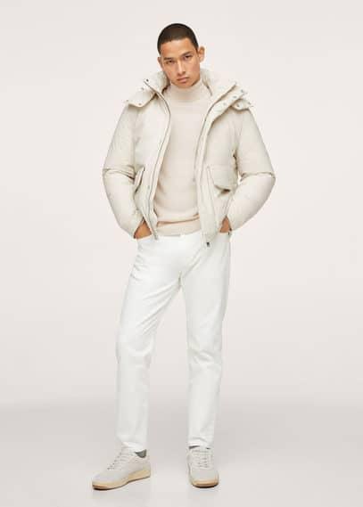 Turtleneck wool sweater off white