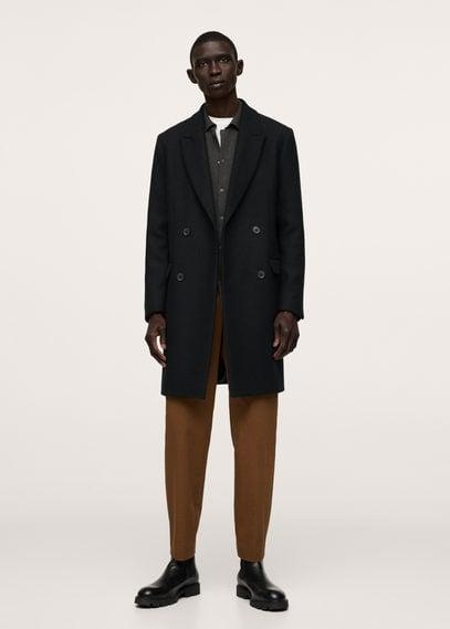 Wool overcoat black
