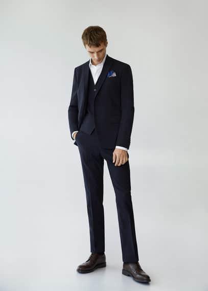 Slim fit suit gilet dark navy