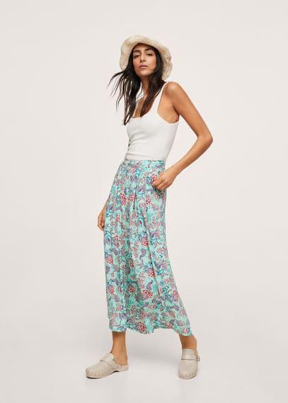 Струящиеся брюки с принтом - Sitges