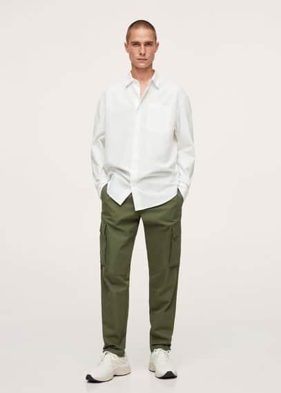 Рубашка relaxed-fit из хлопка - Nadia Mango белого цвета